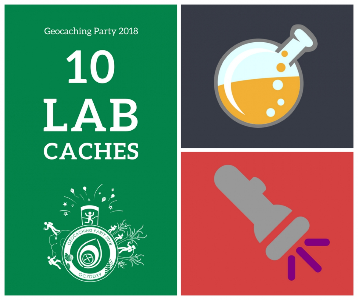 Lab Cache na Geocaching Party 2018